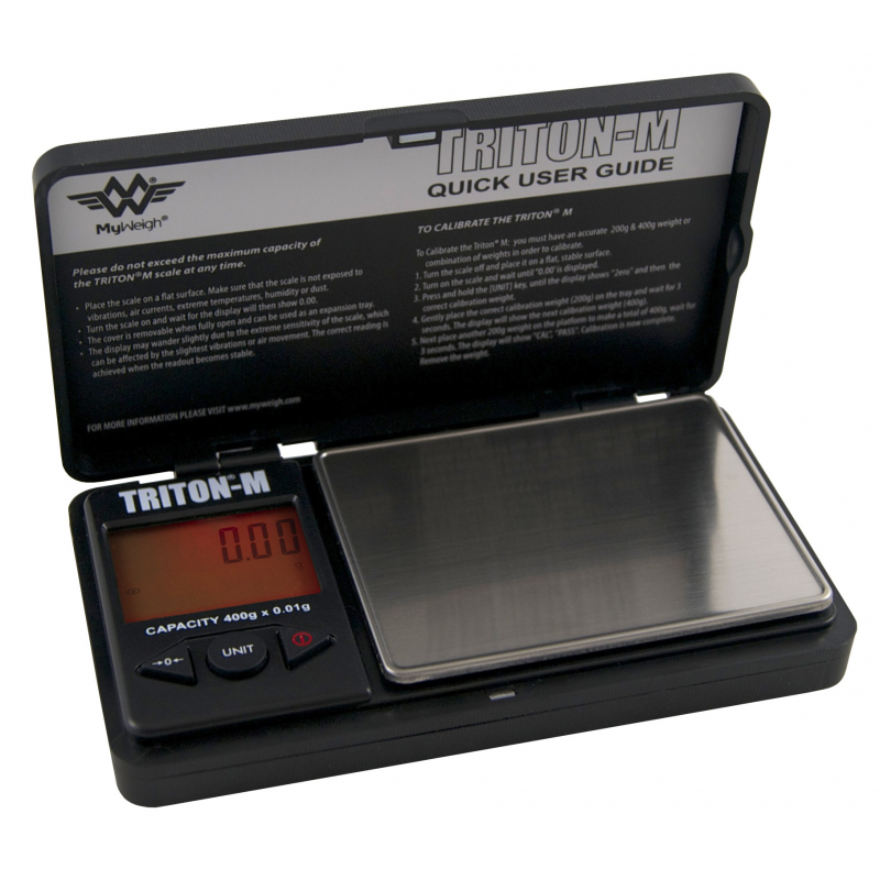 My Weigh Triton Mini 400g x 0.01 gram Pocket Scales with Calibration Weights