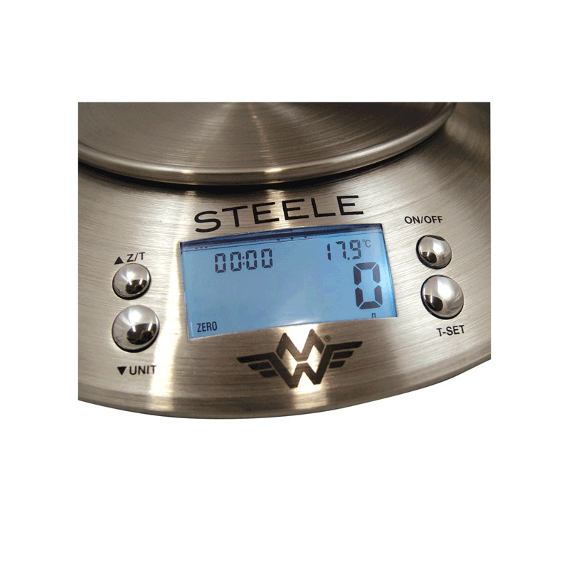 My Weigh Steele Stainless Steel 5kg x 1g Kitchen Scale with Bowl
