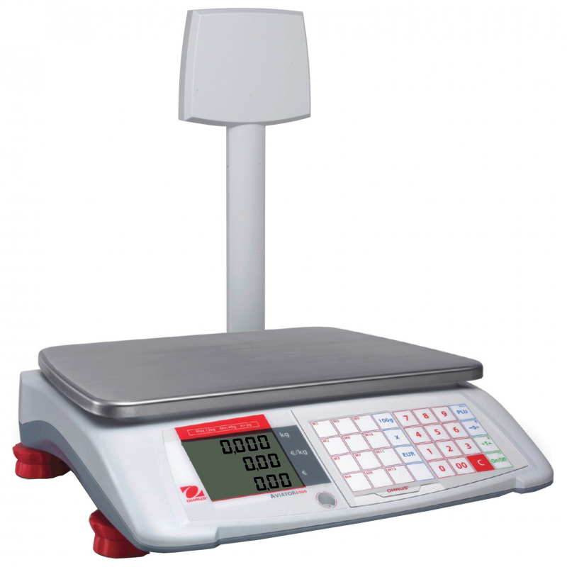 Ohaus Aviator 7000 Price Computing Counter Top Retail Scale
