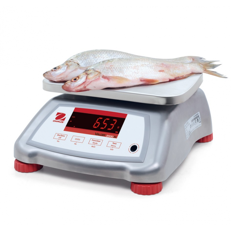 OHaus Valor 2000 Version 2 Stainless Steel IP68 Food Scales